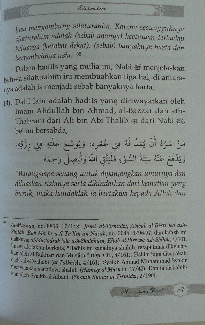 Buku Kunci-Kunci Rizki Menurut al-Qur'an Dan As-Sunnah isi 3