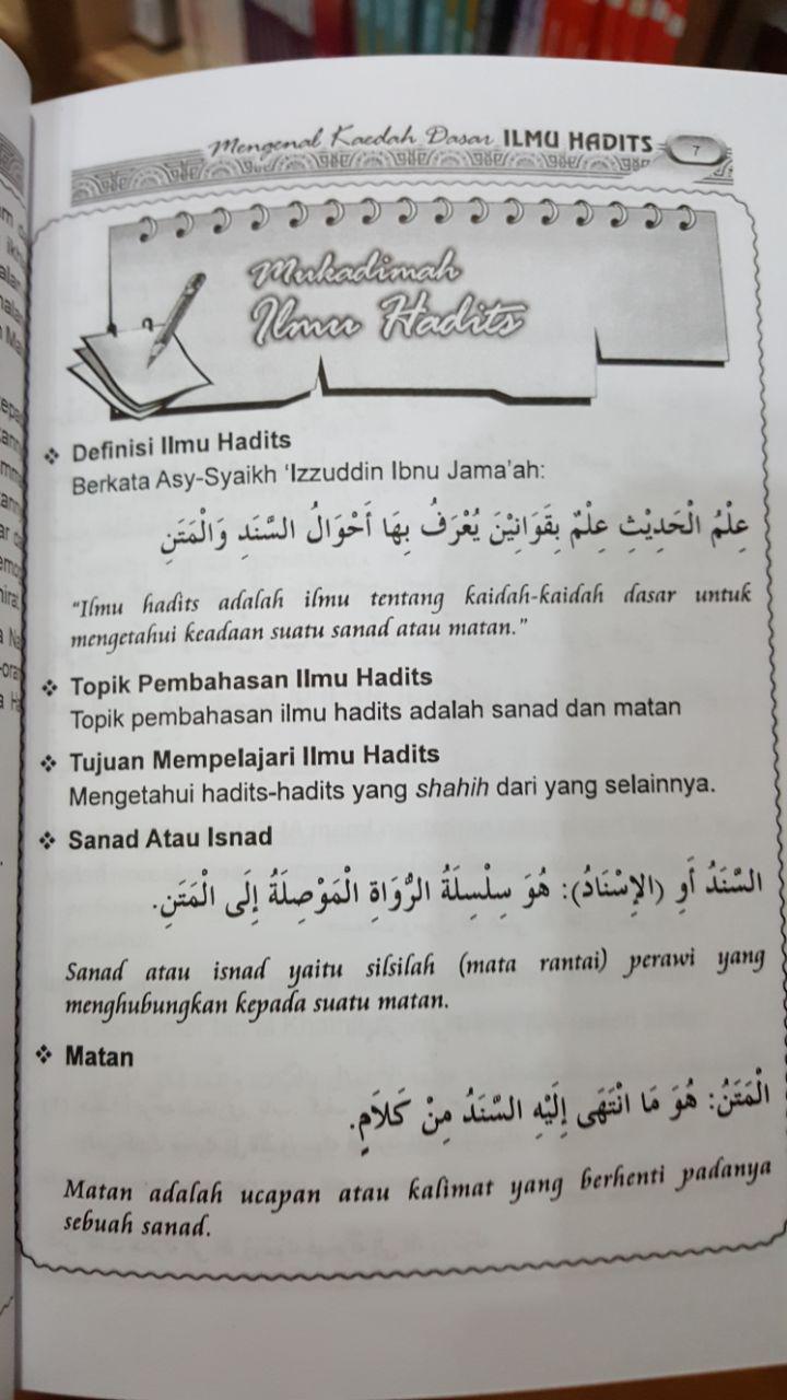 Buku Mengenal Kaedah Dasar Ilmu Hadits Penjelasan Al-Mandhumah Al-Baiquniyah isi 2