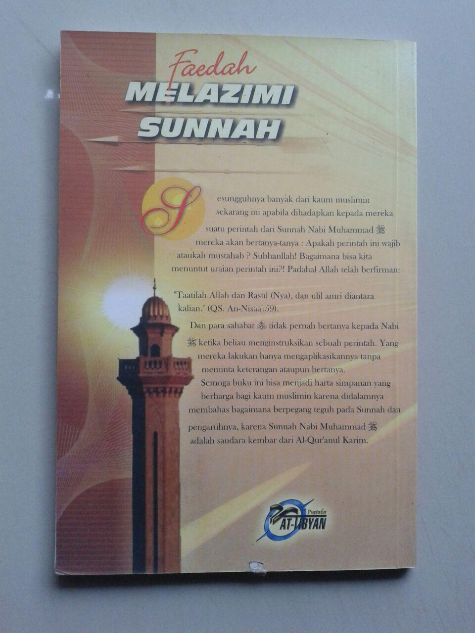 Buku Faedah Melazimi Sunnah cover