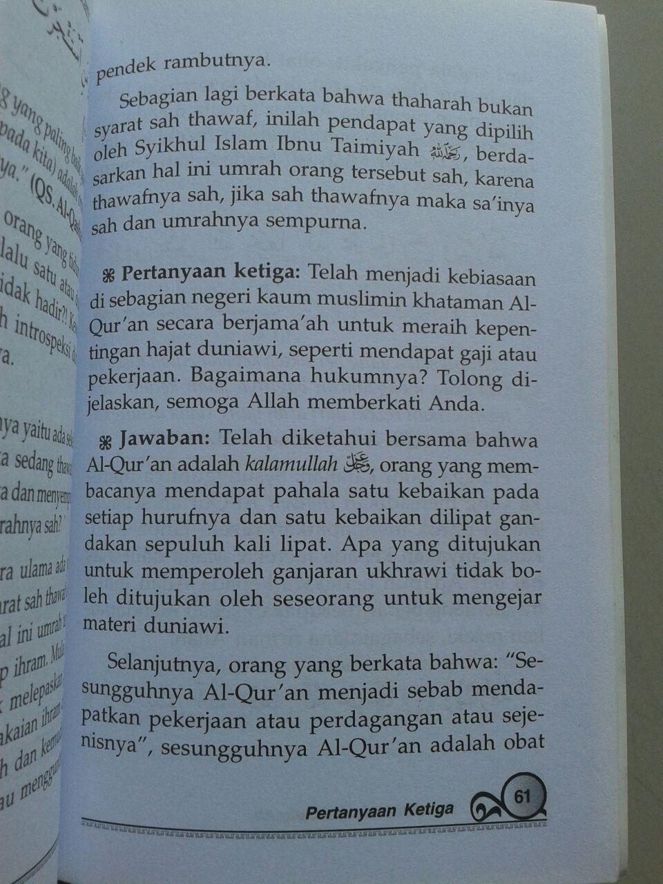 Buku Faedah Melazimi Sunnah isi 2