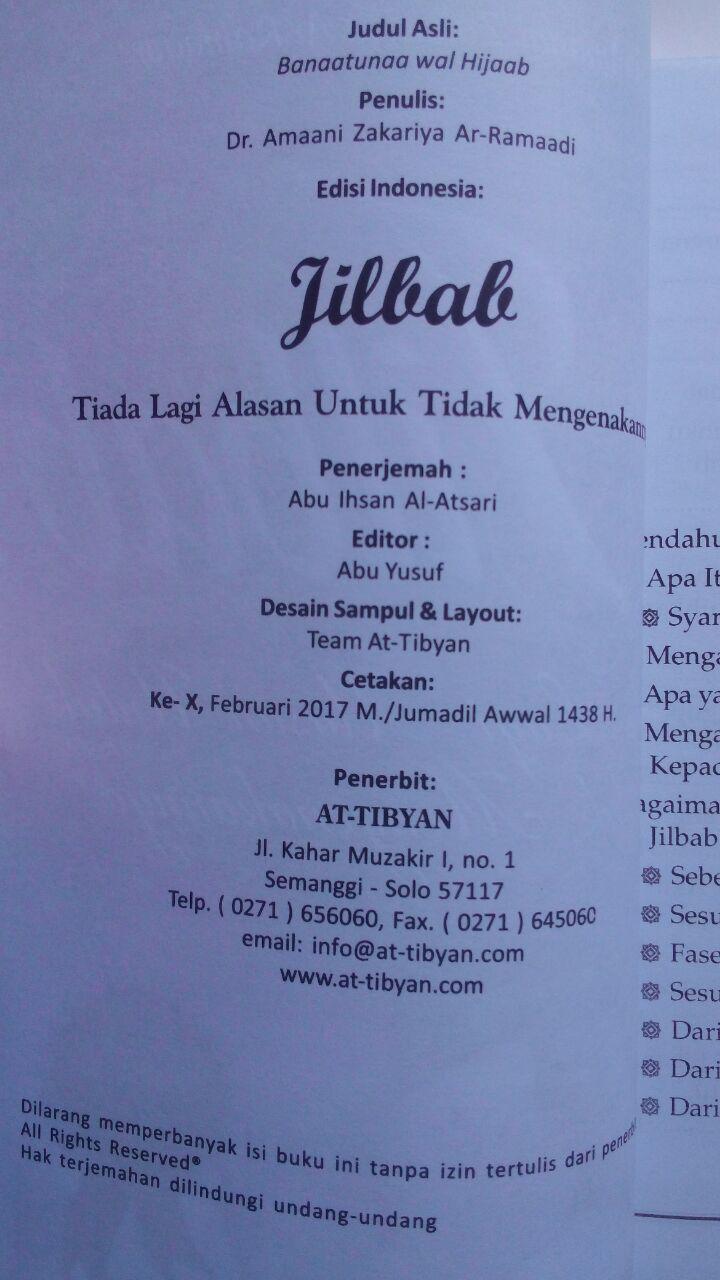 Buku Jilbab Tiada Lagi Alasan Untuk Tidak Mengenakannya 23,000 15% 19,550 isi