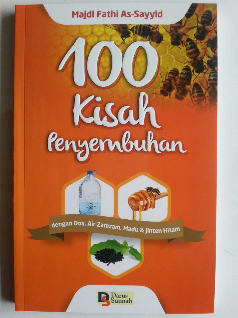 Buku 100 Kisah Penyembuhan Dengan Doa Air Zam Zam Madu Jintan Hitam cover 2