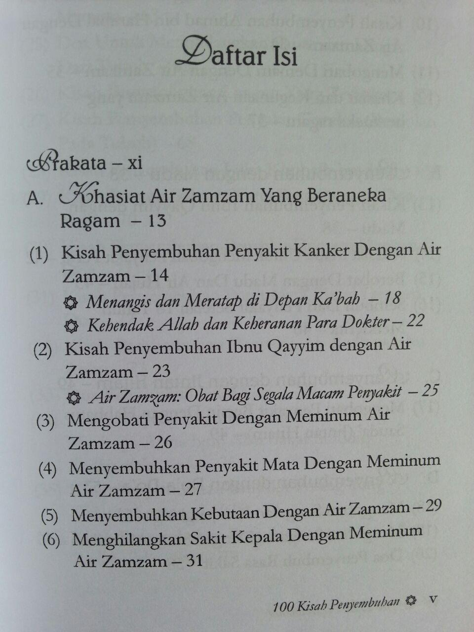 Buku 100 Kisah Penyembuhan Dengan Doa Air Zam Zam Madu Jintan Hitam isi 2