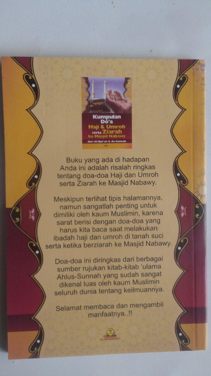 Buku Kumpulan Doa Haji Dan Umrah Dari Al-Qur'an dan As-Sunnah cover