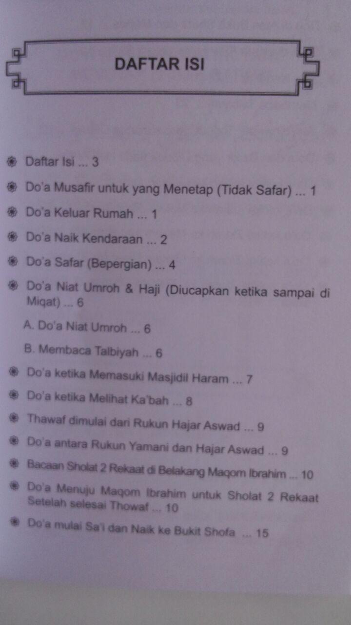 Buku Kumpulan Doa Haji Dan Umrah Dari Al-Qur'an dan As-Sunnah isi 2