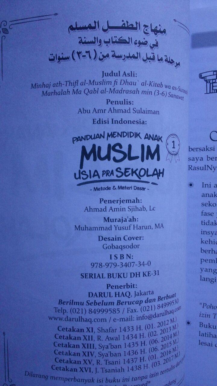 Buku Panduan Mendidik Anak Muslim Usia Pra Sekolah 20,000 15% 17,000 isi 3