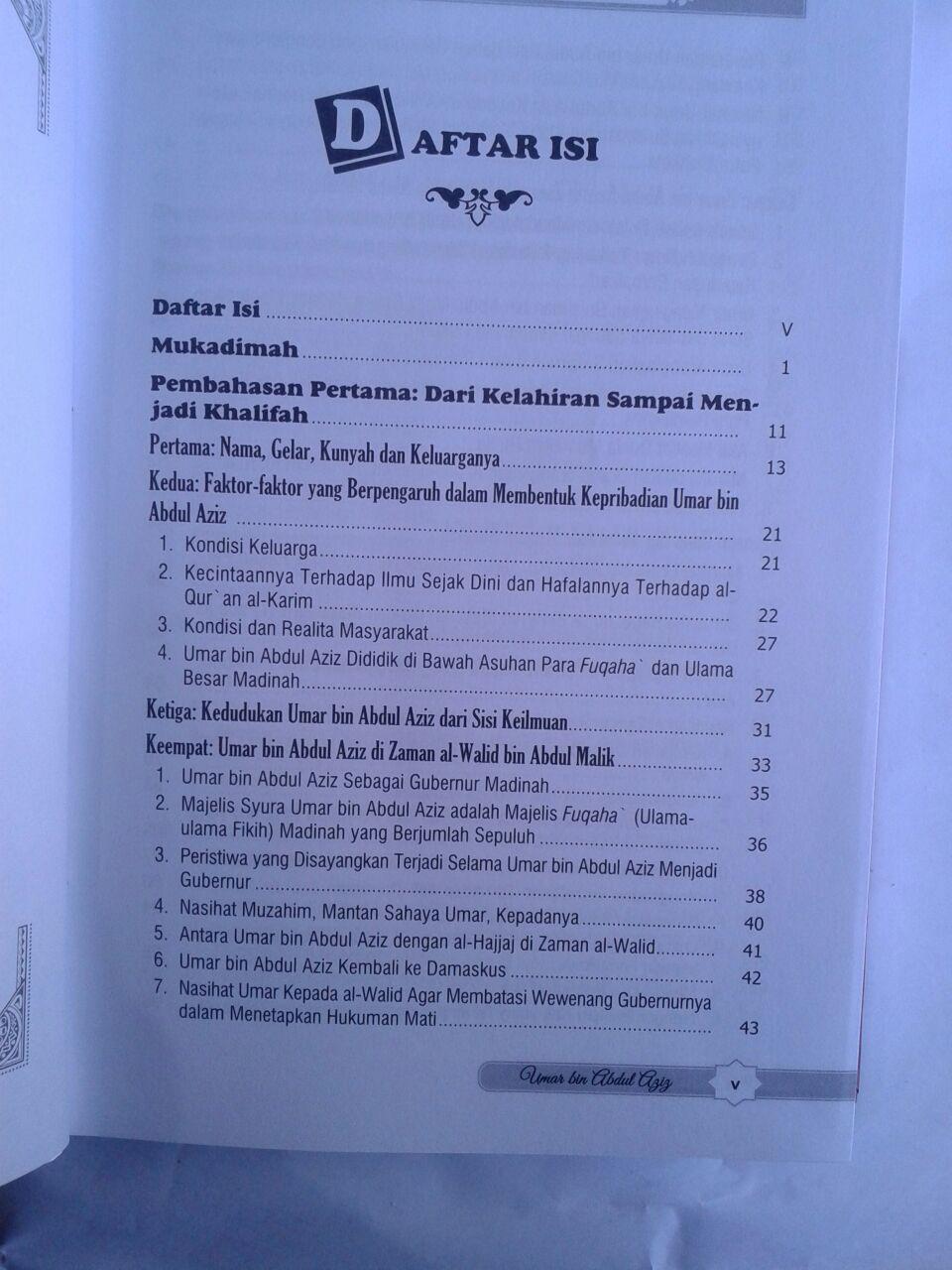 Buku Perjalanan Hidup Khalifah Yang Agung Umar Bin Abdul Aziz Ulama Dan Pemimpin Yang Adil isi 2