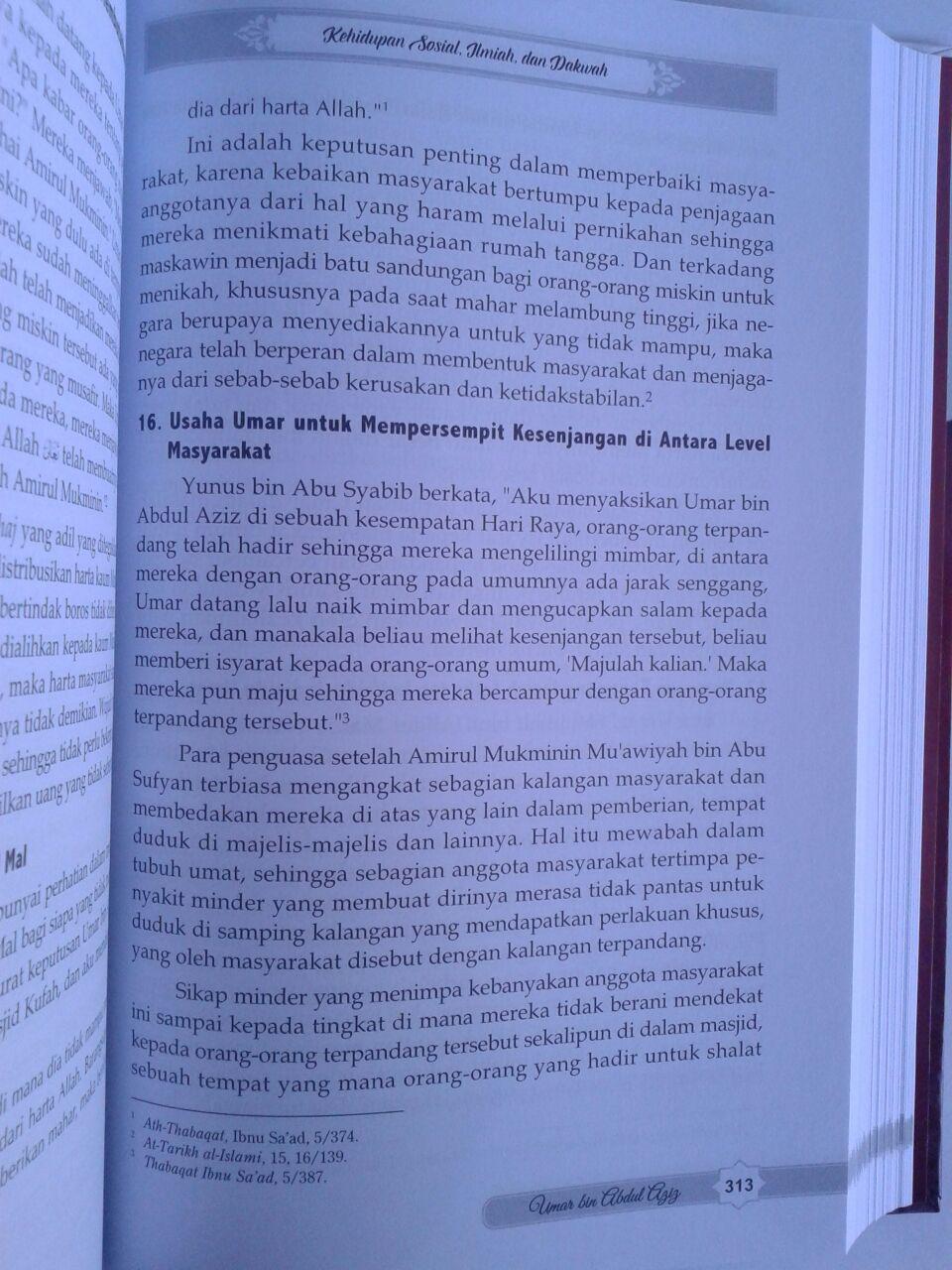 Buku Perjalanan Hidup Khalifah Yang Agung Umar Bin Abdul Aziz Ulama Dan Pemimpin Yang Adil isi 3