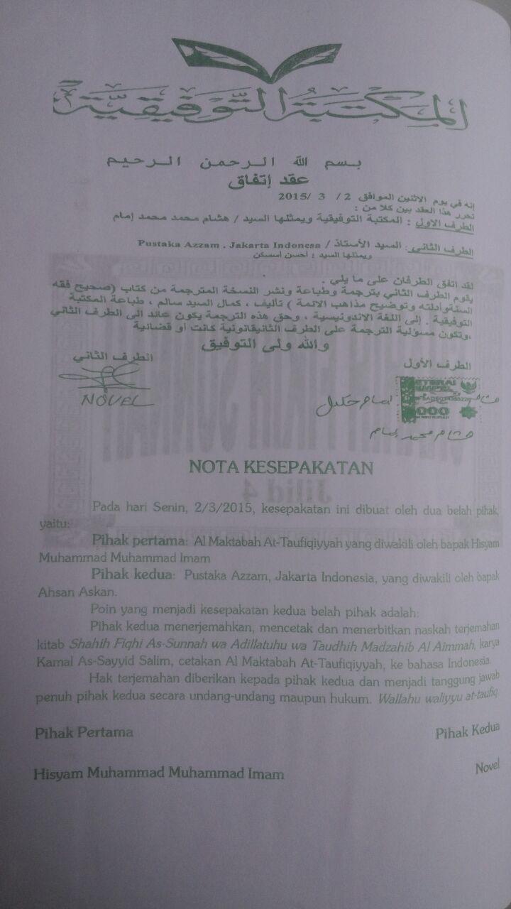 Buku Shahih Fikih Sunnah Pustaka Azzam Abu Malik Kamal bin As-Sayyid Salim isi 2