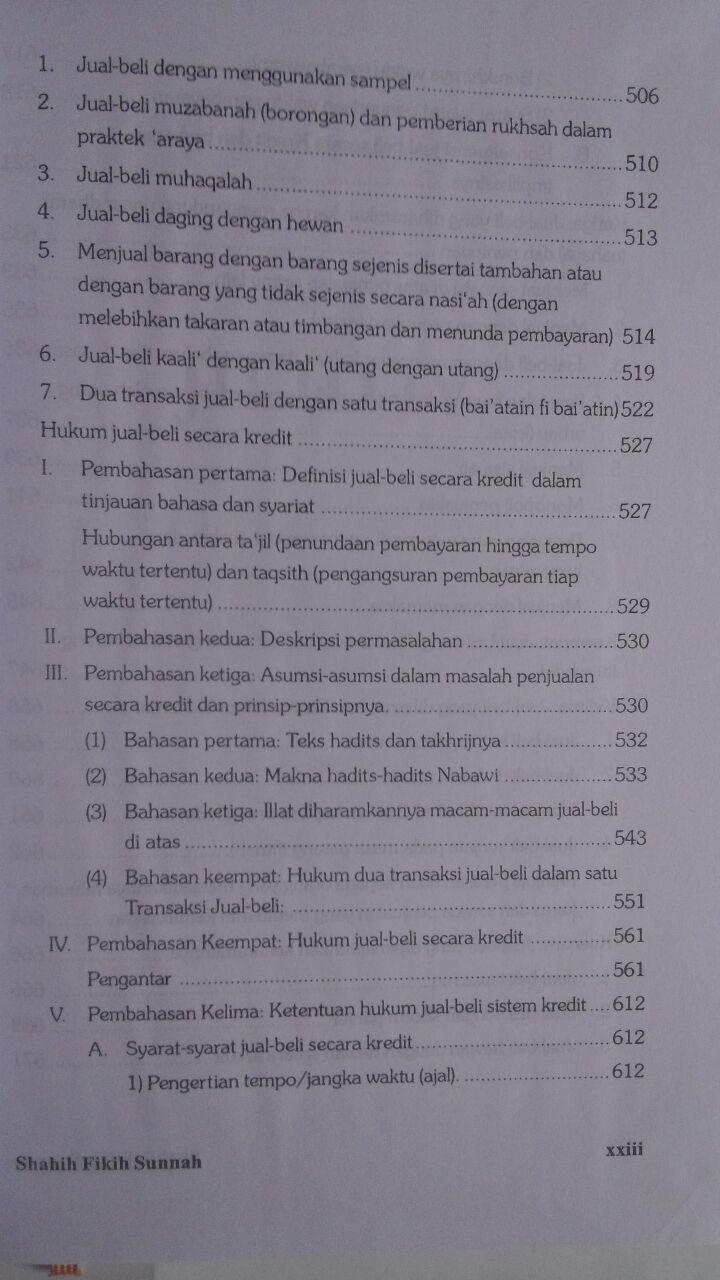 Buku Shahih Fikih Sunnah Pustaka Azzam Abu Malik Kamal bin As-Sayyid Salim isi 3
