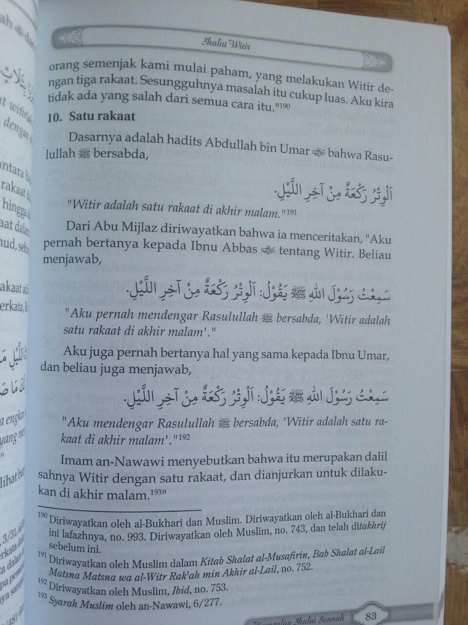 Buku Kumpulan Shalat Sunnah Dan Keutamaannya isi 3