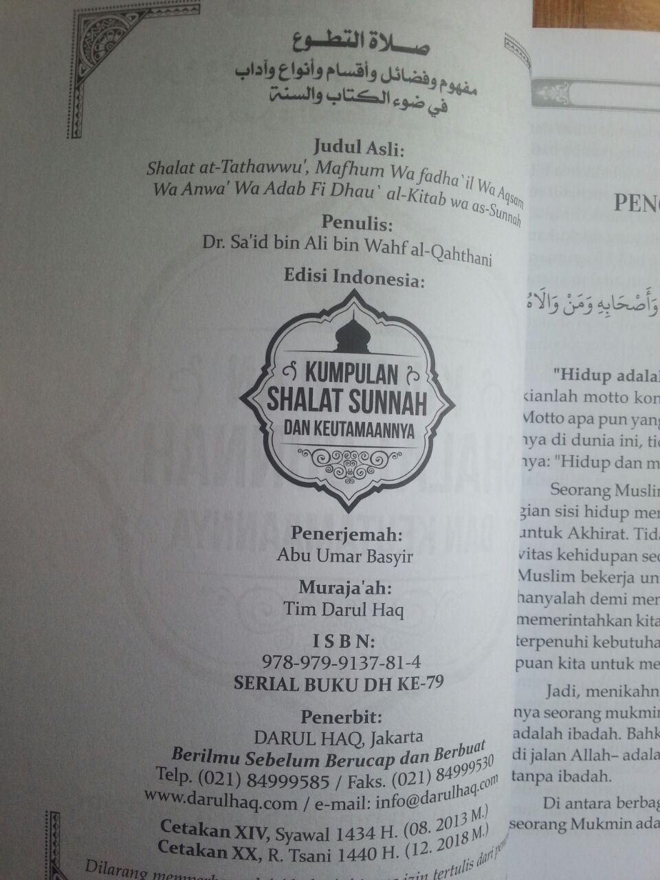 Buku Kumpulan Shalat Sunnah Dan Keutamaannya isi