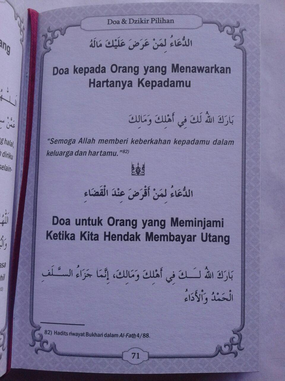 Buku Saku Hisnul Muslim Ensiklopedi Mini Doa & Dzikir Pilihan isi 3