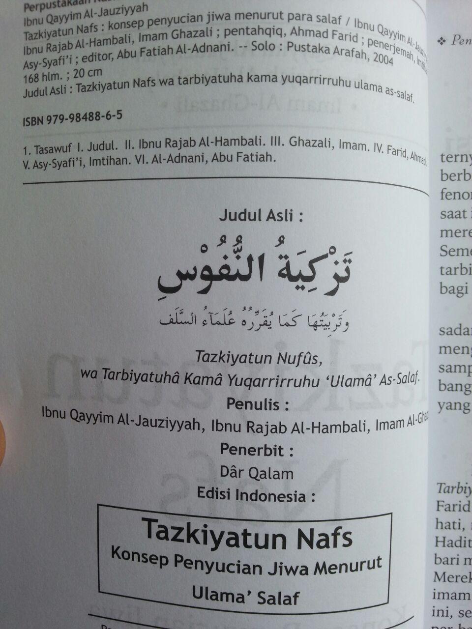 Buku Tazkiyatun Nafs isi 2