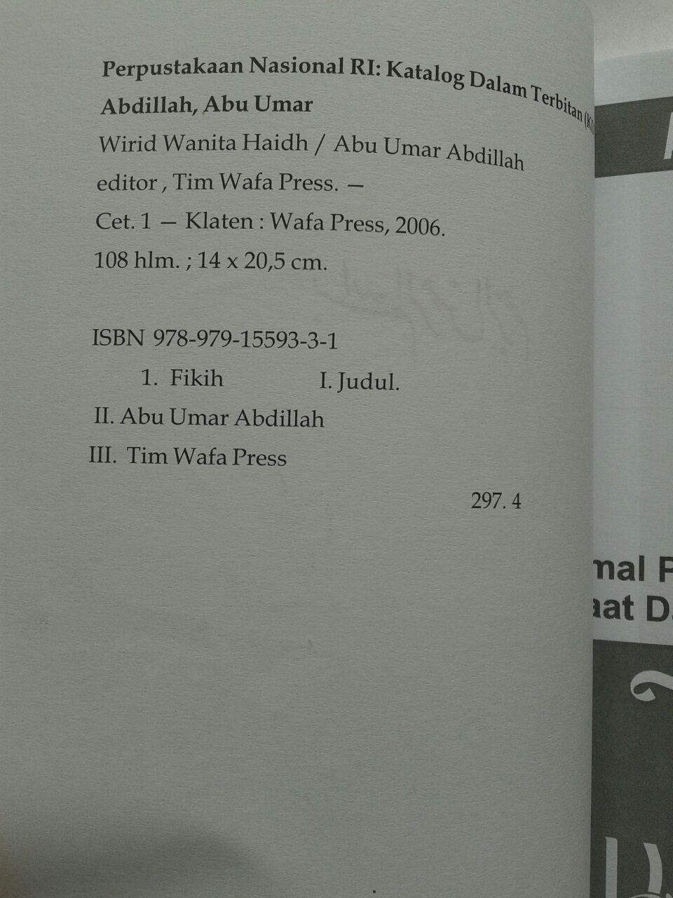 Buku Wirid Wanita Haidh Amal Pilihan Saat Datang Bulan isi 3