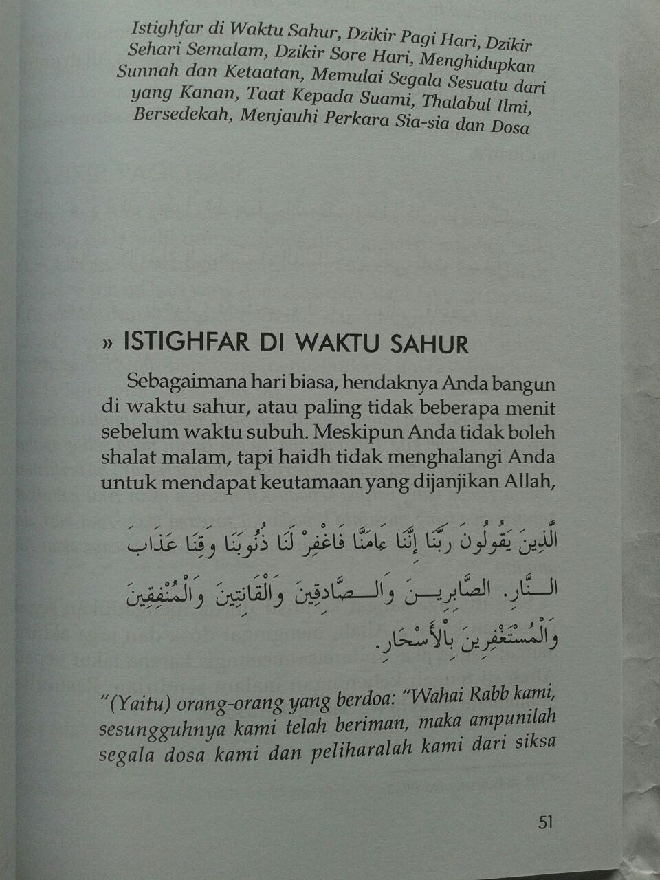 Buku Wirid Wanita Haidh Amal Pilihan Saat Datang Bulan isi