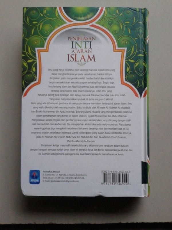 Buku Penjelasan Inti Ajaran Islam Ilmu Yang Wajib Dipelajari cover