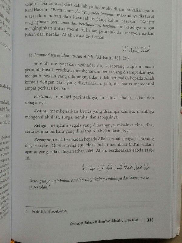 Buku Penjelasan Inti Ajaran Islam Ilmu Yang Wajib Dipelajari isi