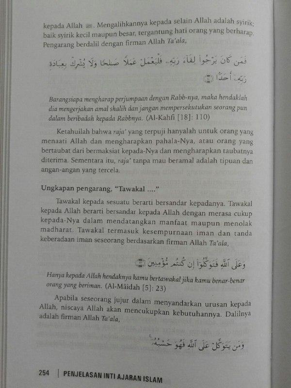 Buku Penjelasan Inti Ajaran Islam Ilmu Yang Wajib Dipelajari isi 3