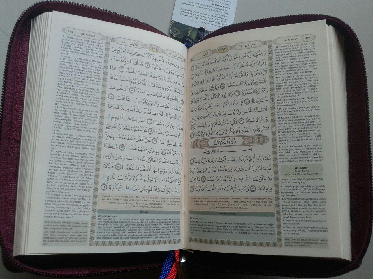 Al-Qur'an Terjemah Bukhara Syamil Ritsleting Tajwid Ukuran A6 isi 2