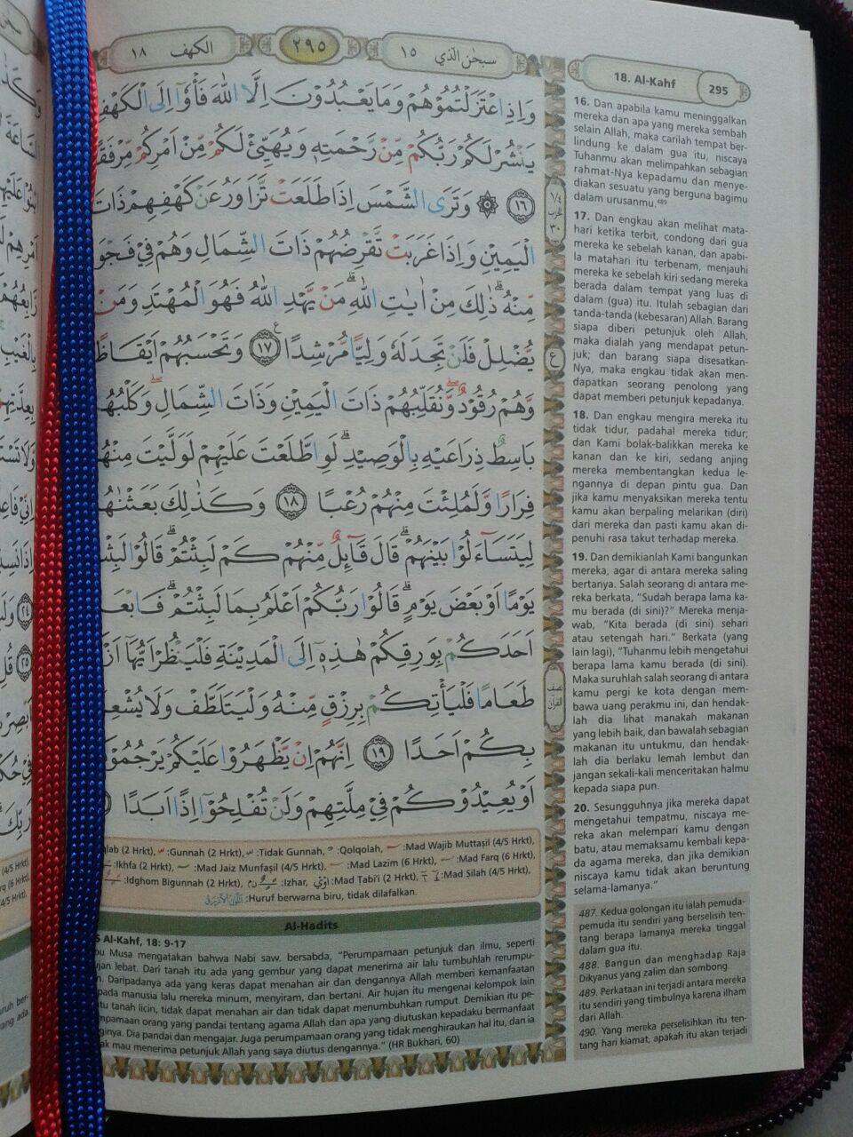 Al-Qur'an Terjemah Bukhara Syamil Ritsleting Tajwid Ukuran A6 isi