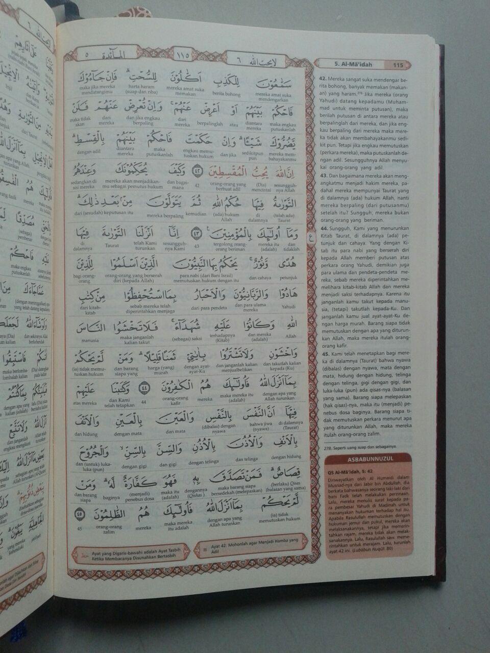 Al-Qur'an Syaamil Terjemah Tafsir Perkata Versi Hijaz Ukuran Kecil isi