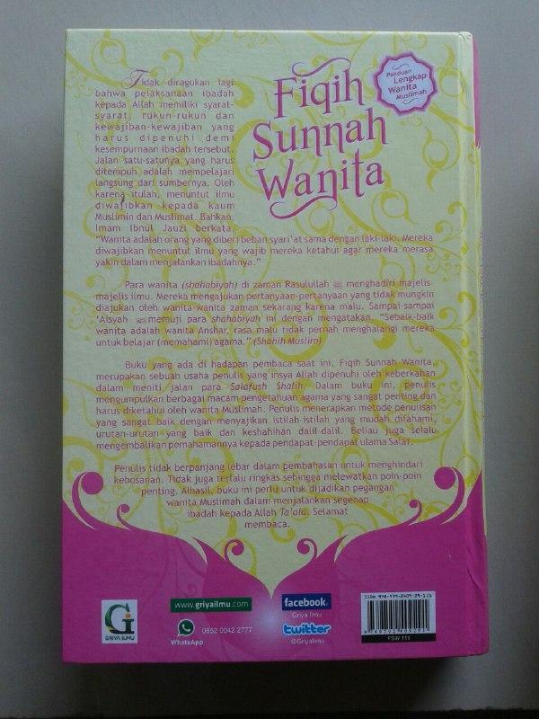 Buku Fikih Sunnah Wanita Segala Hukum Fiqih Yang Berkaitan Wanita cover