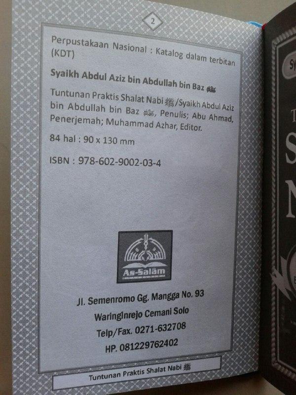 Buku Saku Tuntunan Praktis Shalat Nabi Dilengkapi Dzikir Ba'da Shalat isi 2