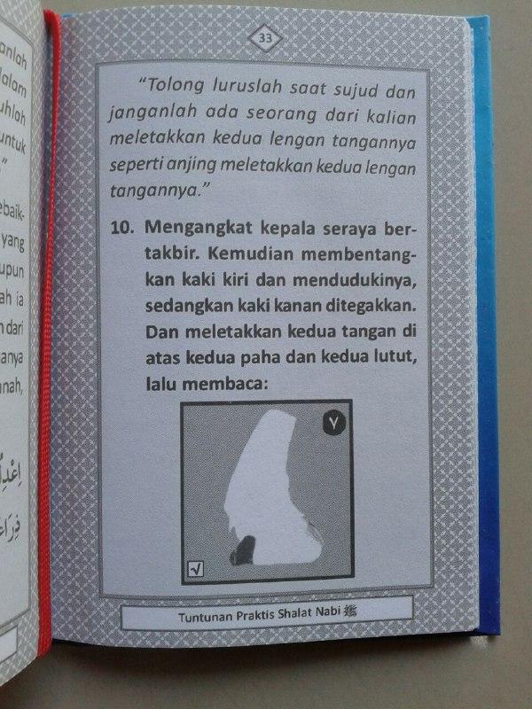 Buku Saku Tuntunan Praktis Shalat Nabi Dilengkapi Dzikir Ba'da Shalat isi