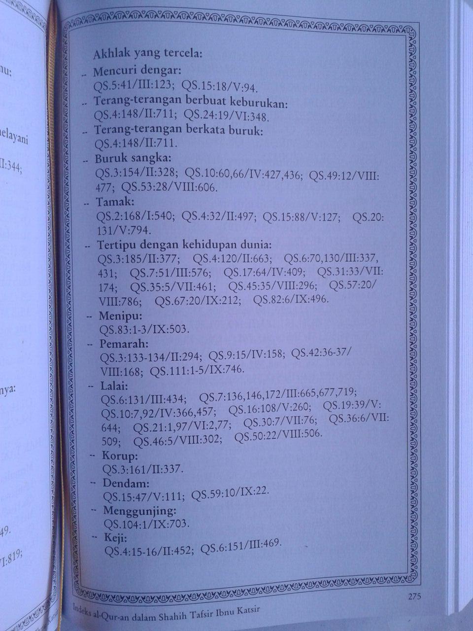 Buku Index Al-Qur'an Dalam Shahih Tafsir Ibnu Katsir