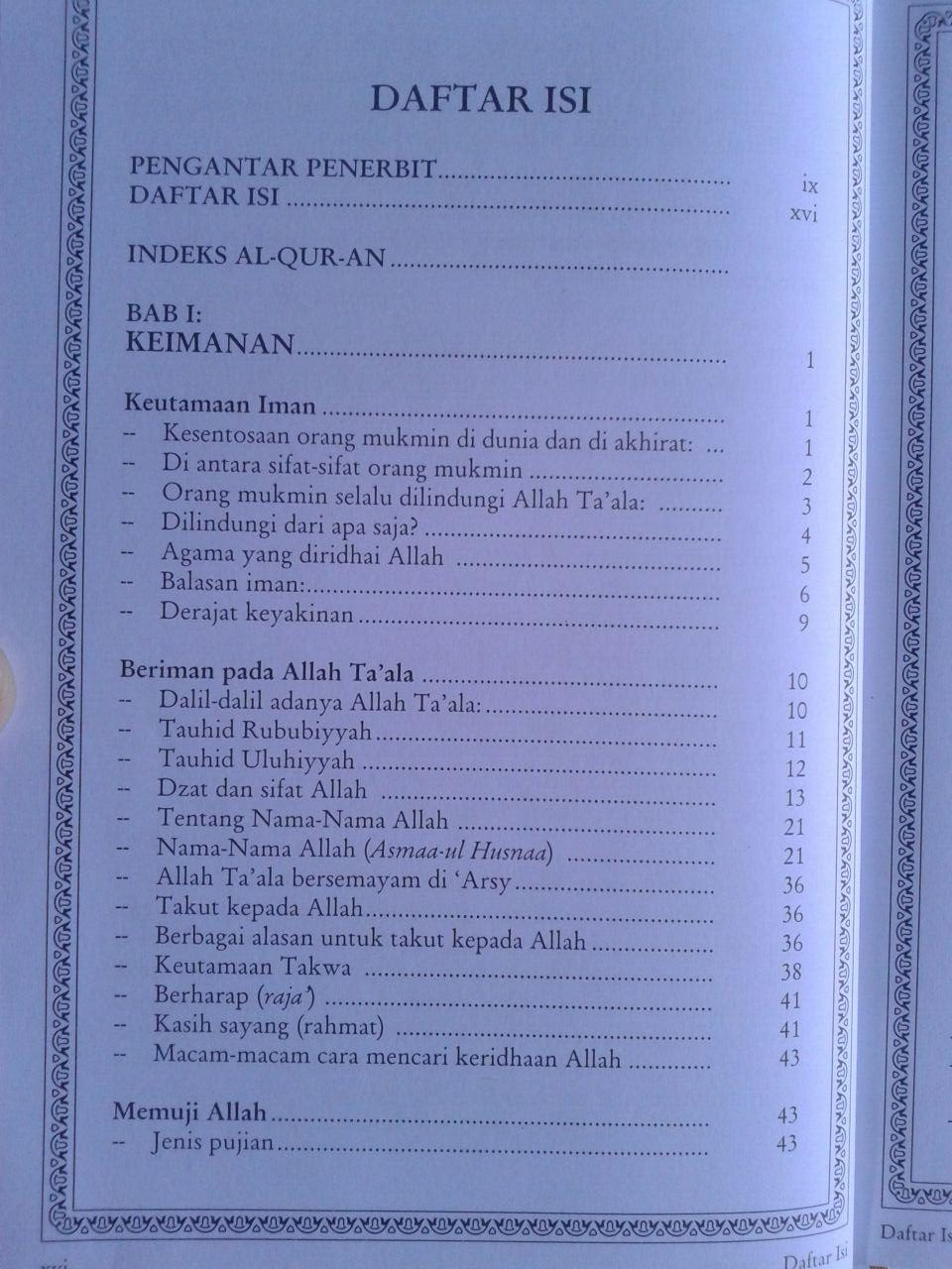 Buku Index Al-Qur'an Dalam Shahih Tafsir Ibnu Katsir isi 3