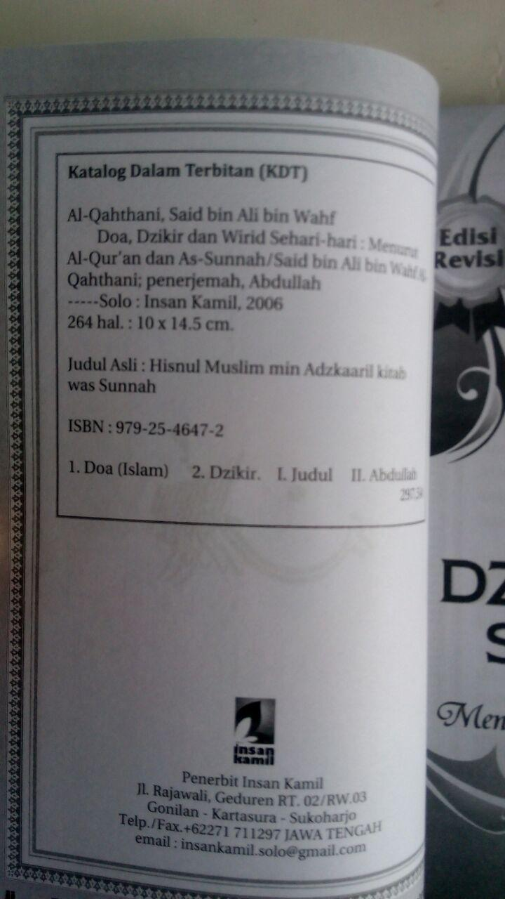 BK745 Buku Saku Doa Dzikir dan Wirid Sehari-Hari isi 2