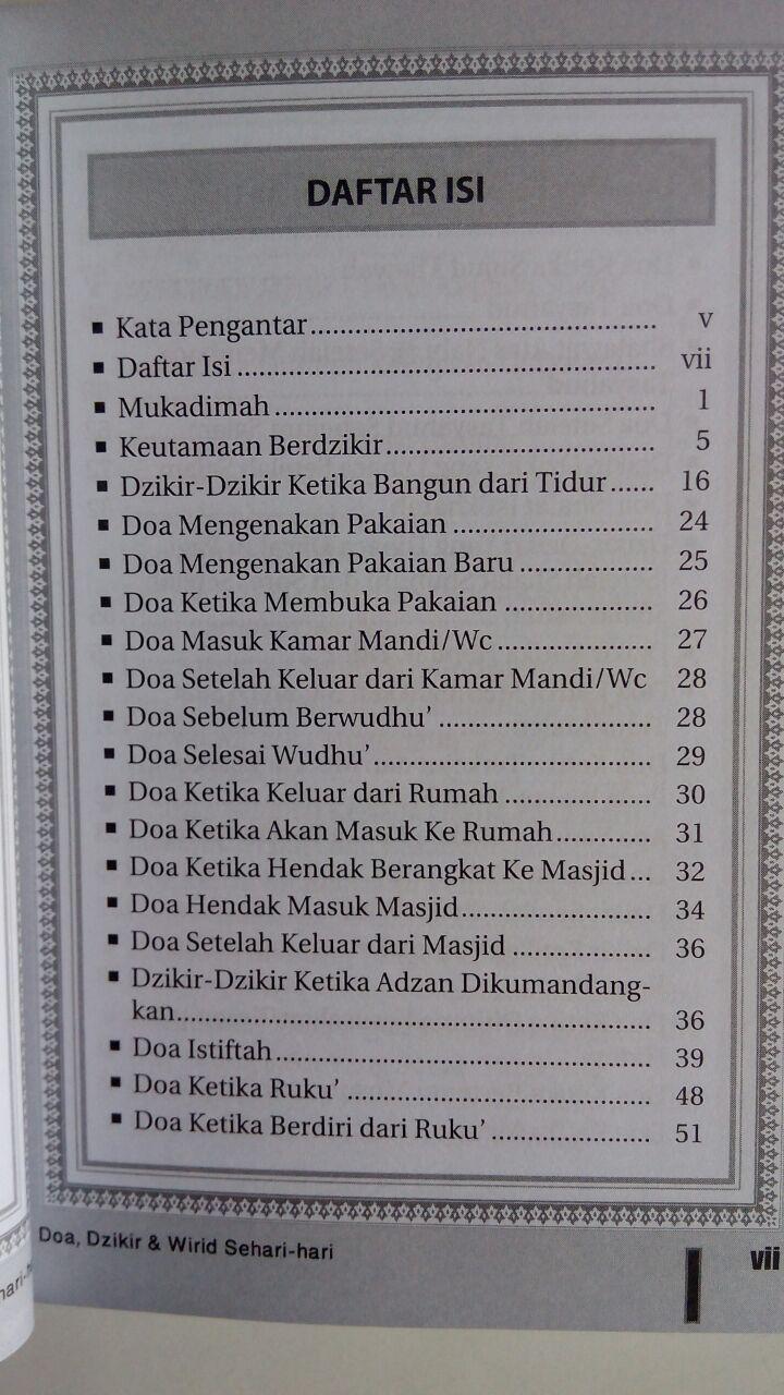 BK745 Buku Saku Doa Dzikir dan Wirid Sehari-Hari isi 3