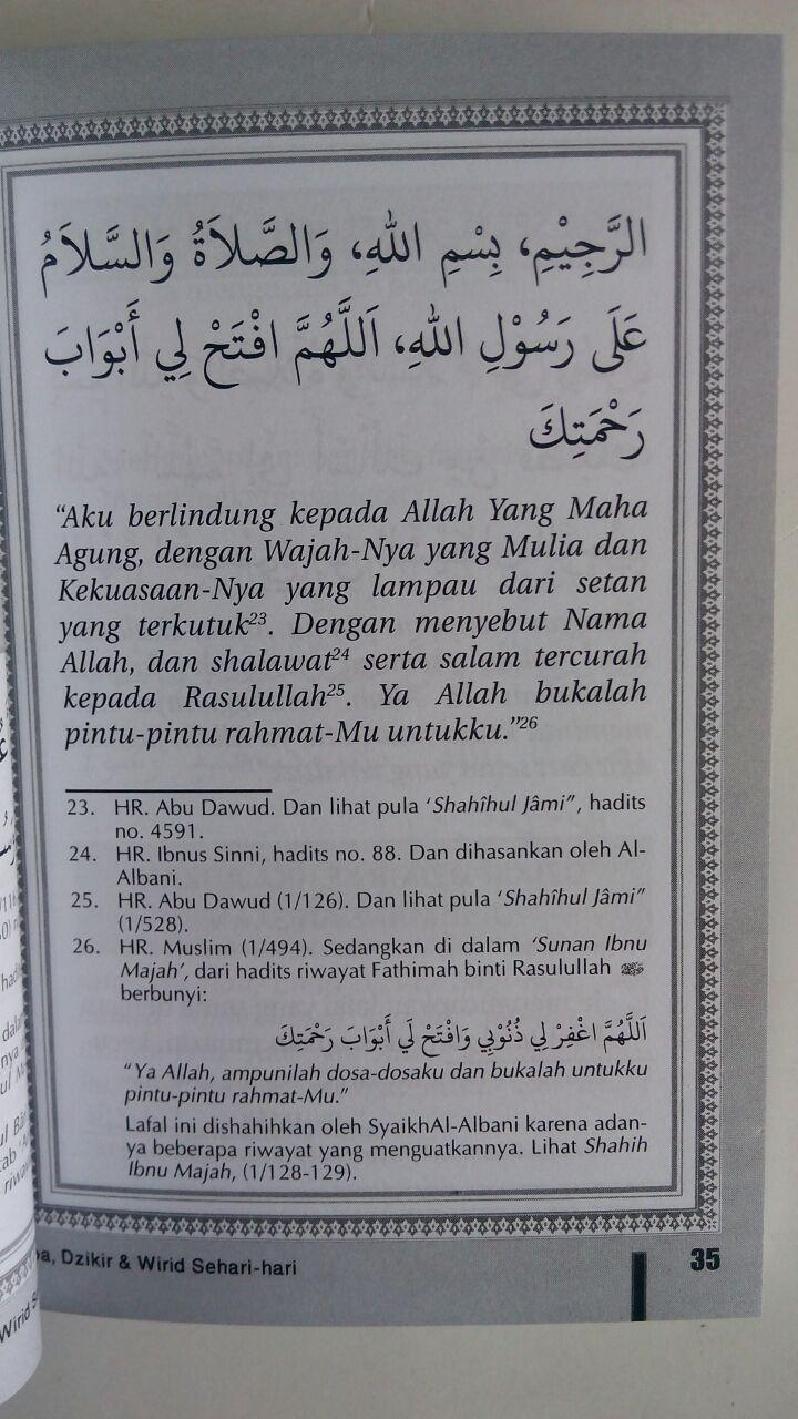 BK745 Buku Saku Doa Dzikir dan Wirid Sehari-Hari isi