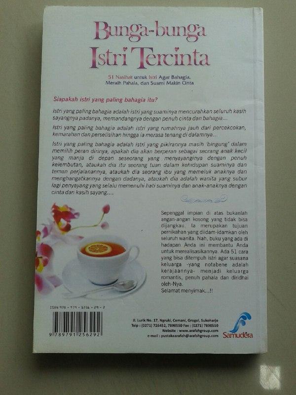 Buku Bunga-Bunga Istri Tercinta 51 Nasihat Untuk Istri Agar Bahagia cover 2
