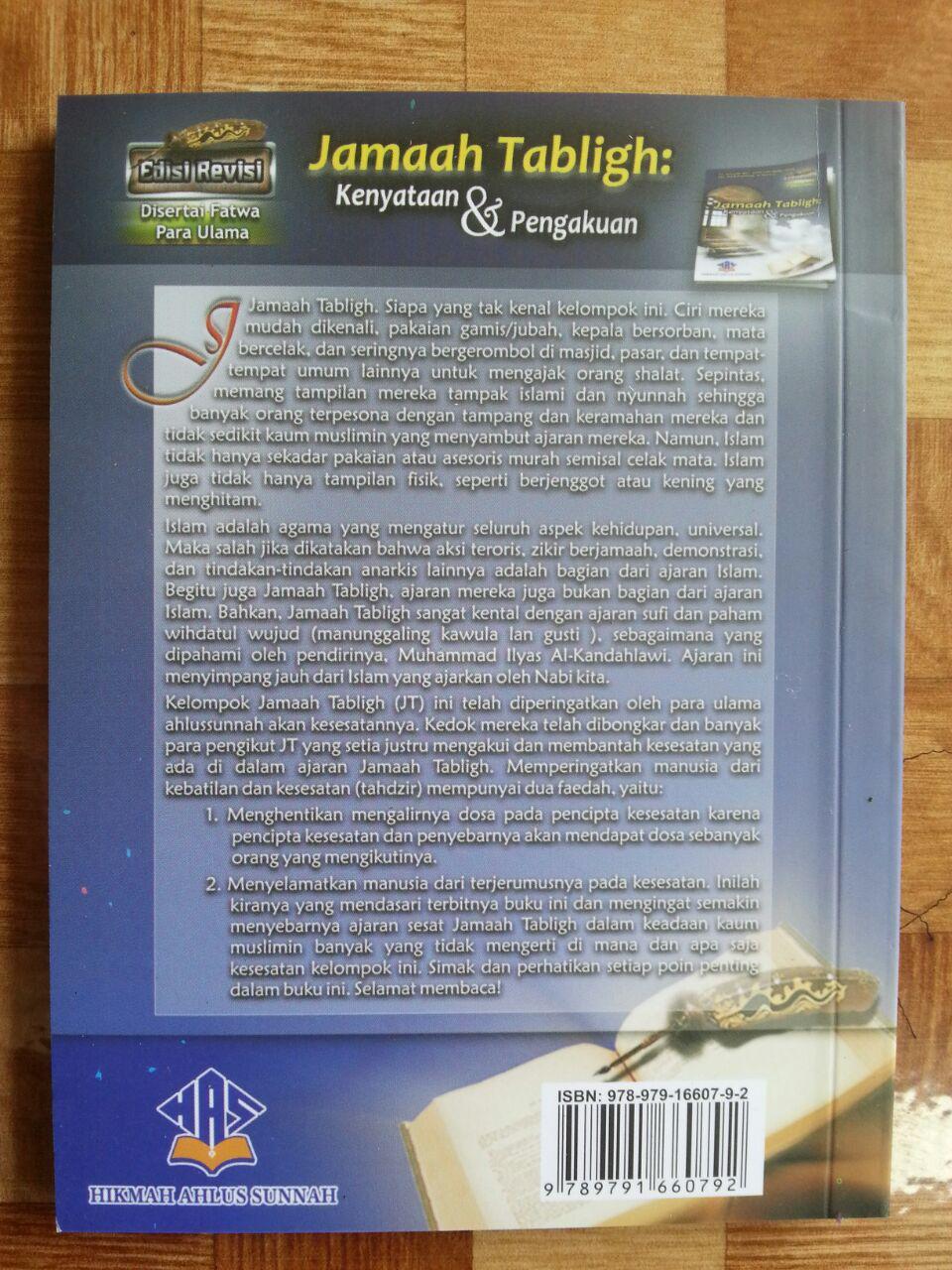 Buku Jamaah Tabligh Kenyataan Dan Pengakuan cover