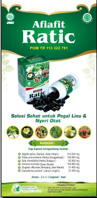 Herbal Afiafit Ratic isi