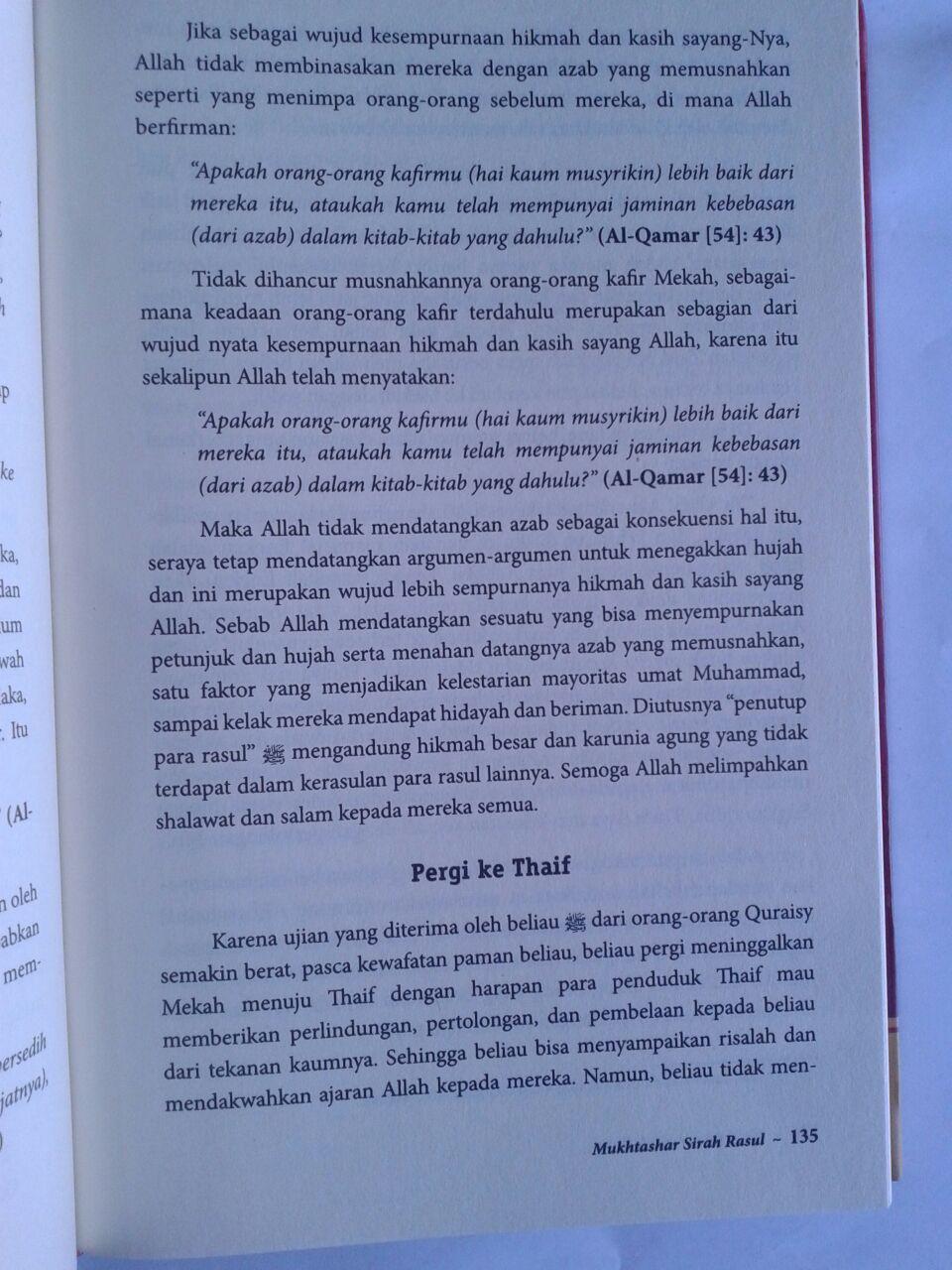 Buku Mukhtashar Sirah Nabawiyah isi 3
