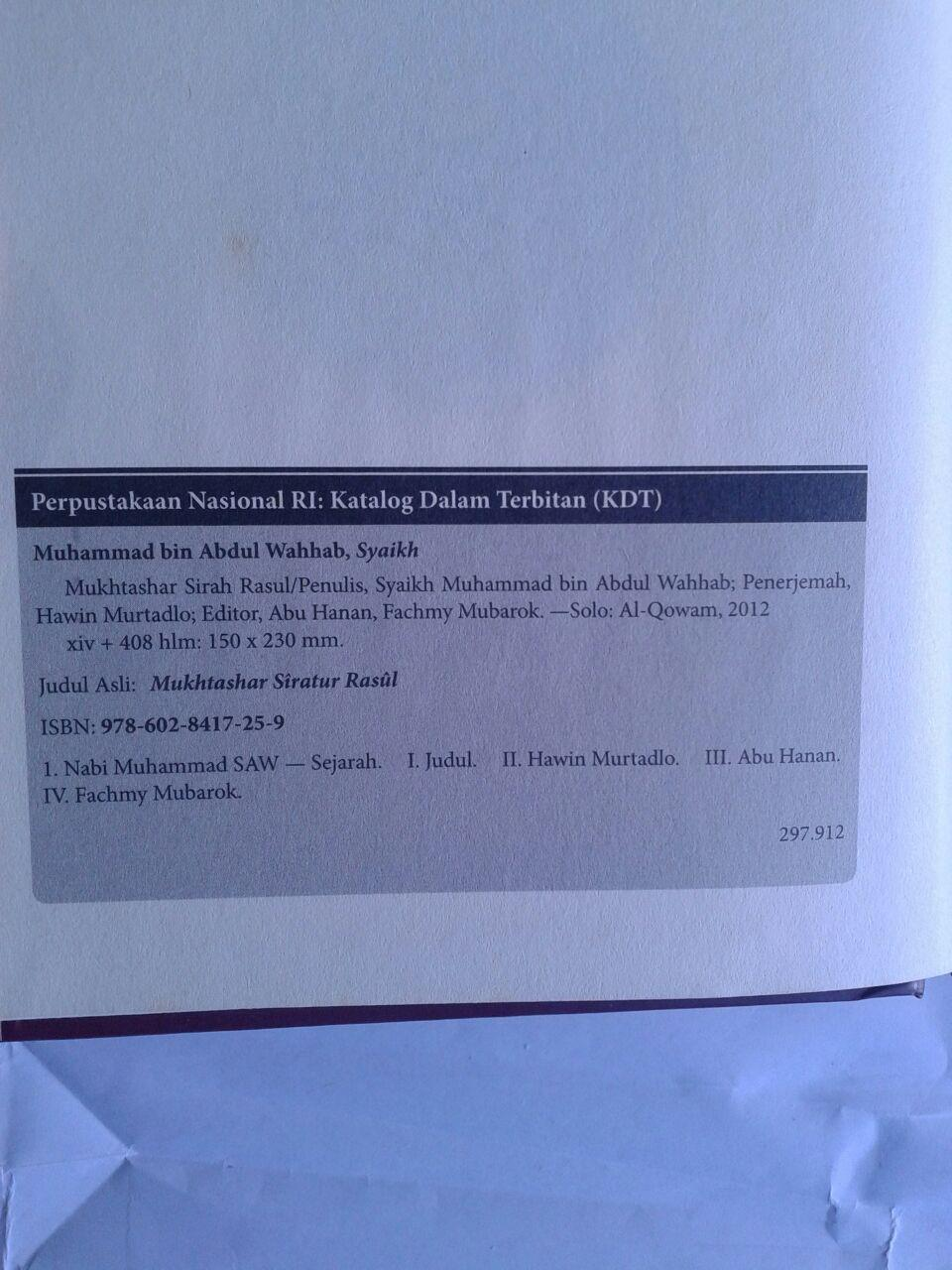 Buku Mukhtashar Sirah Nabawiyah isi