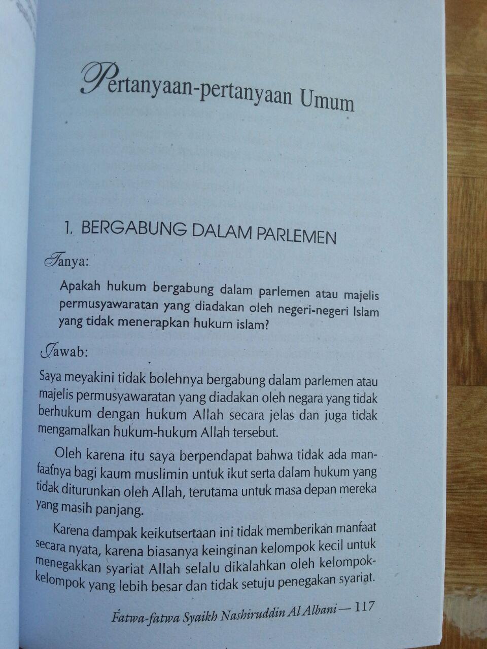 Fatwa-fatwa Syaikh Muhammad Nashiruddin al-Albani isi 3