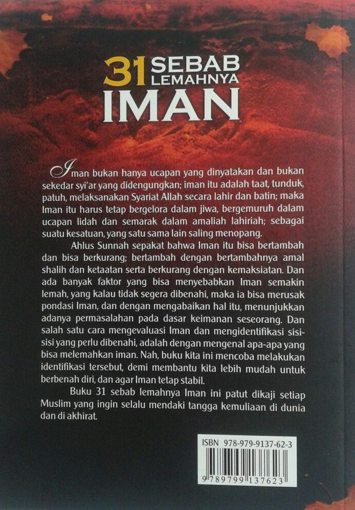 Buku 31 Sebab Lemahnya Iman cover