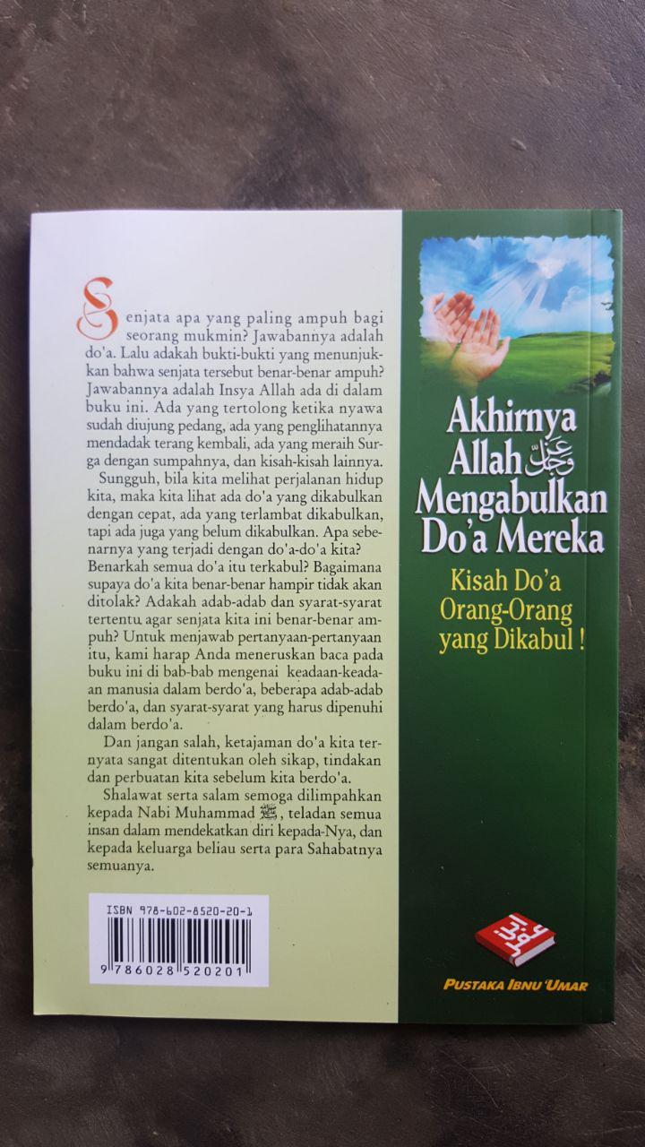 Buku Akhirnya Allah Mengabulkan Doa Mereka cover 2
