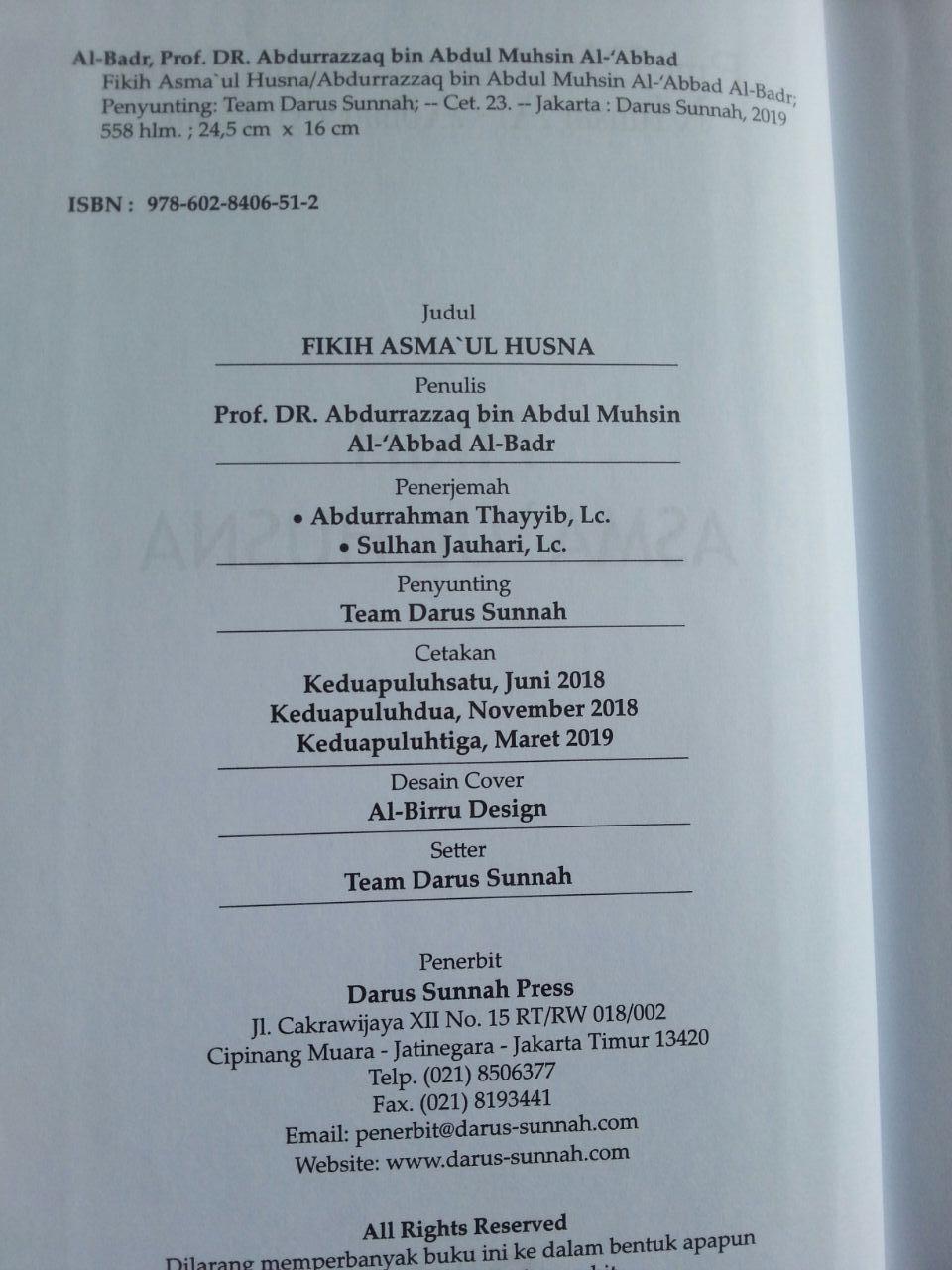 Buku Fikih Asma'ul Husna isi 3