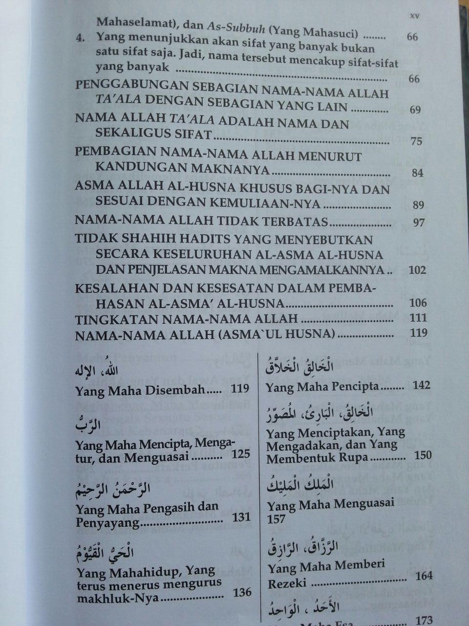 Buku Fikih Asma'ul Husna isi