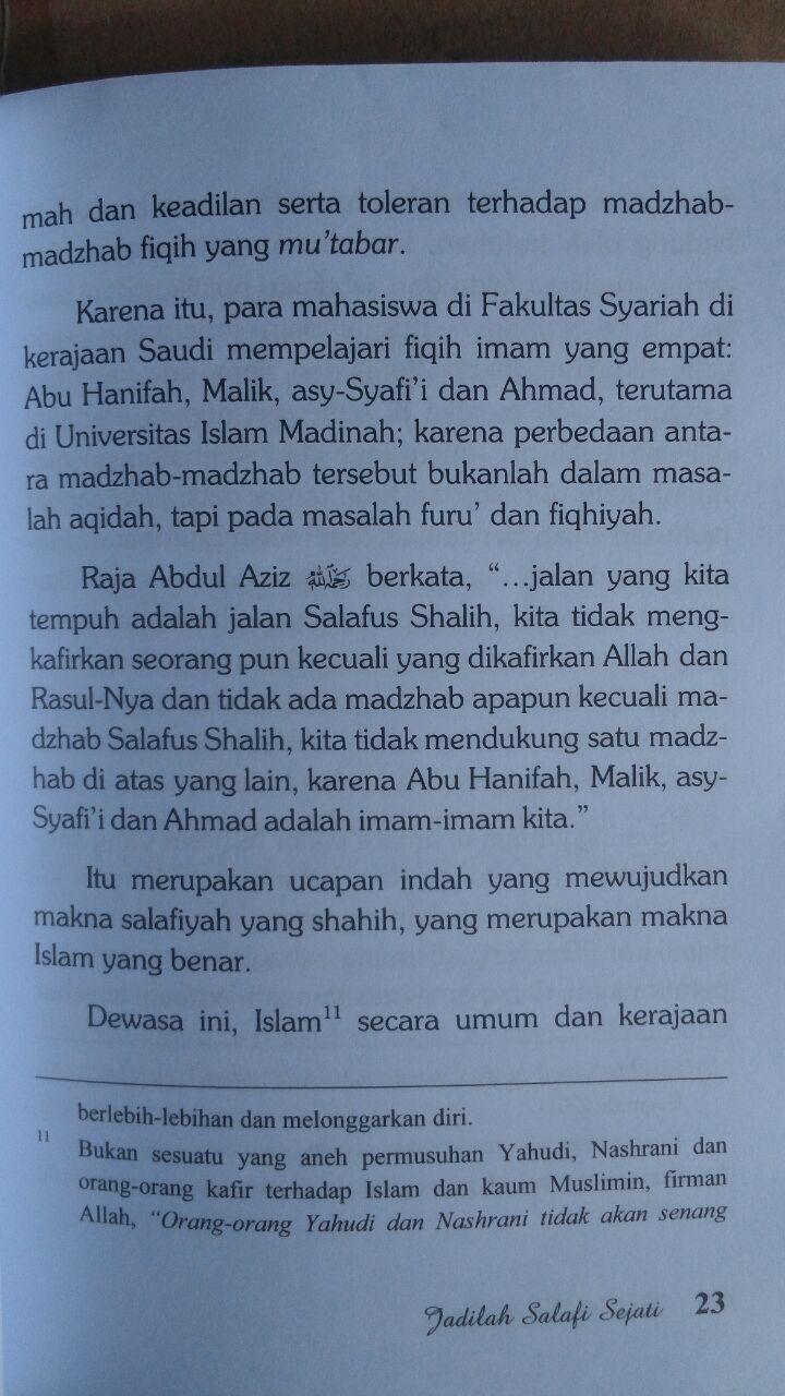 Buku Jadilah Salafi Sejati 24,000 ISI 4