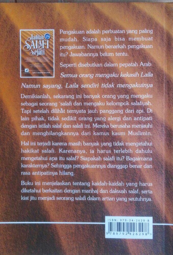 Buku Jadilah Salafi Sejati 24,000 cover