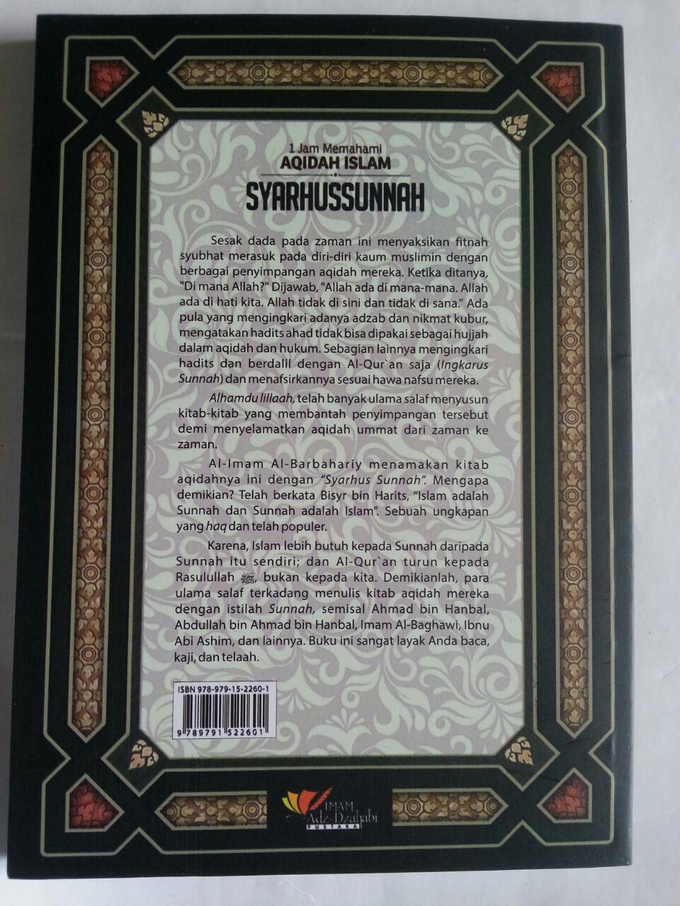 Buku Syarhus Sunnah 1 Jam Memahami Aqidah Islam cover