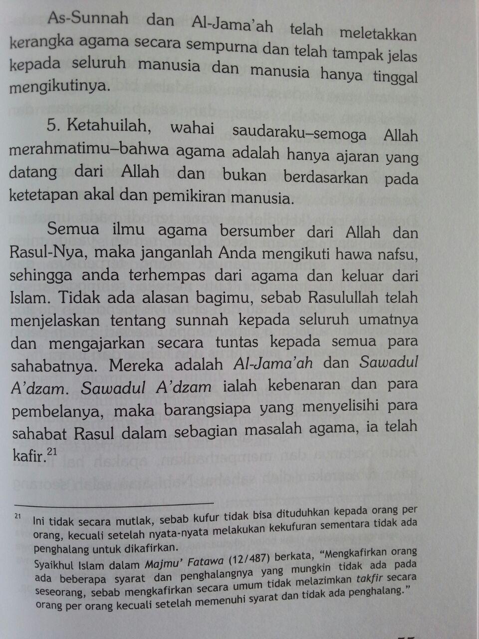 Buku Syarhus Sunnah 1 Jam Memahami Aqidah Islam isi 3