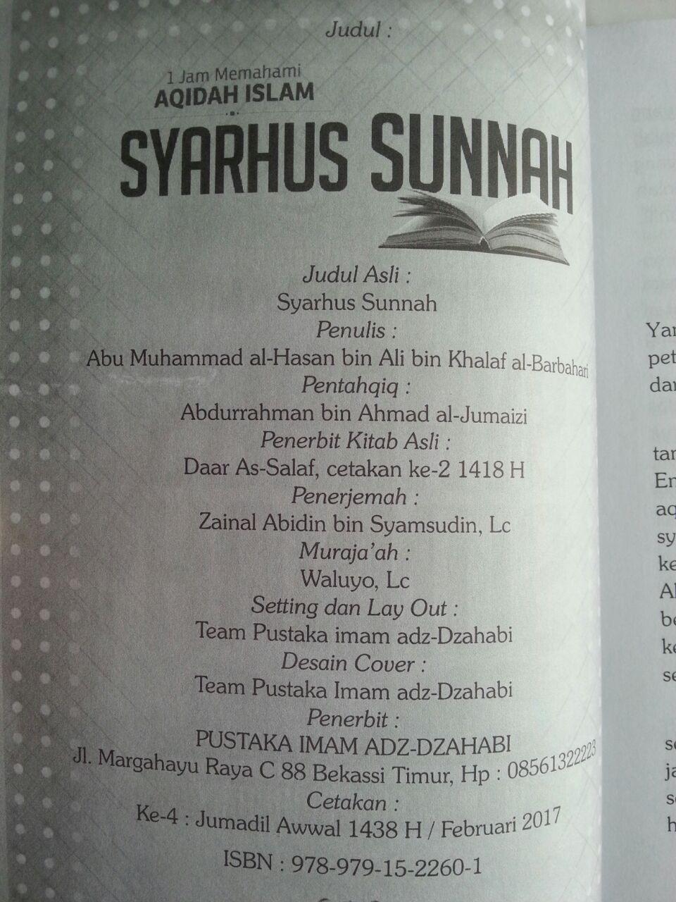 Buku Syarhus Sunnah 1 Jam Memahami Aqidah Islam isi
