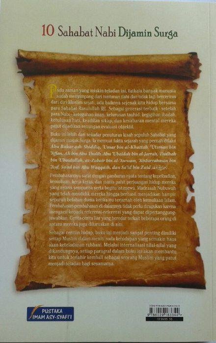 Buku 10 Sahabat Nabi Dijamin Surga cover 2